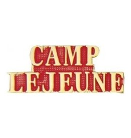 MidMil Camp LeJeune Text Pin 1 1/4""