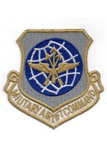 MidMil Embroidered Air Force Military Airlift Command Patch Gold Lettering