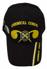 MidMil Army Chemical Corps Hat with Emblem and Shadow Black