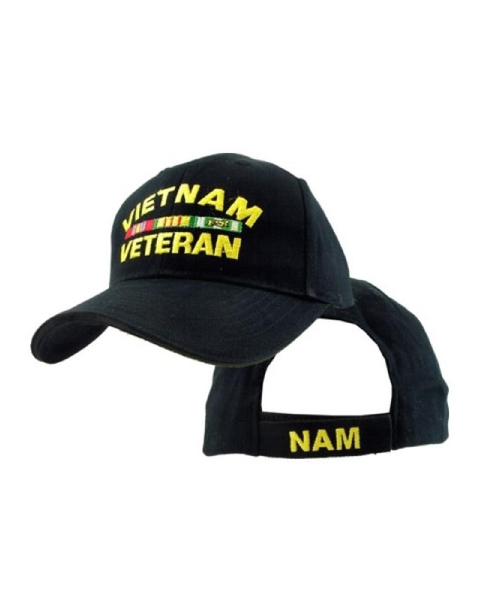 MidMil Vietnam Veteran Hat with Ribbons Black