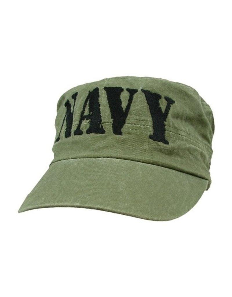 MidMil NAVY Flat Top Hat Olive Drab