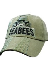 MidMil Navy Seabees Bulldozer Hat Olive Drab
