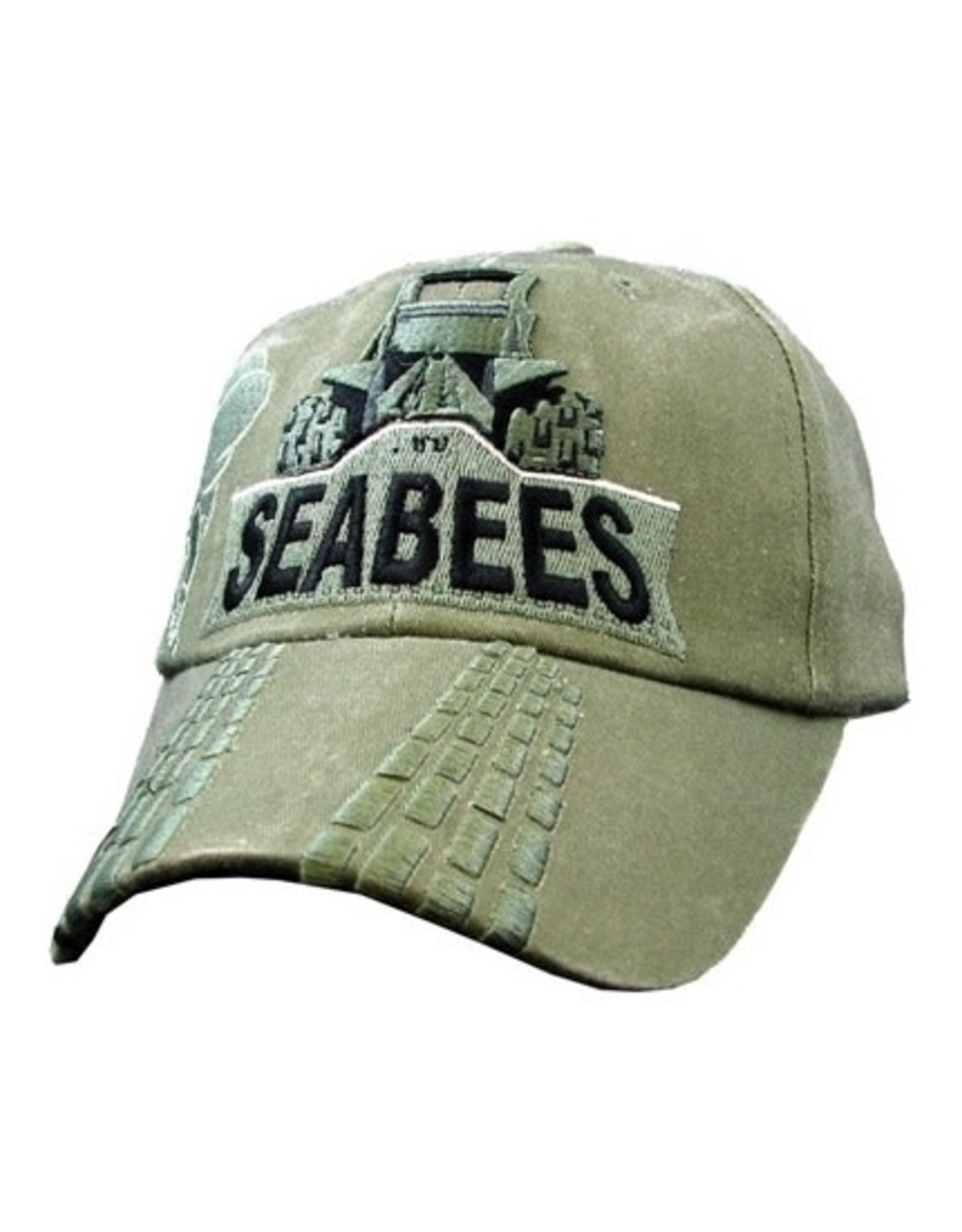 MidMil Navy Seabees Bulldozer Hat Olive Drab
