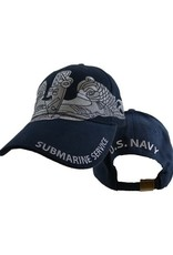 MidMil Navy Submarine Service Hat with Large Dolphins Blue