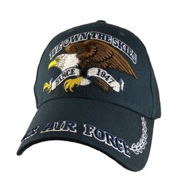 "Air Force Hat with Eagle and Motto ""We Own The Skies"" Dark Blue"