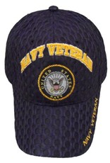 MidMil Navy Veteran Hat with Seal Honeycomb Mesh Dark Blue