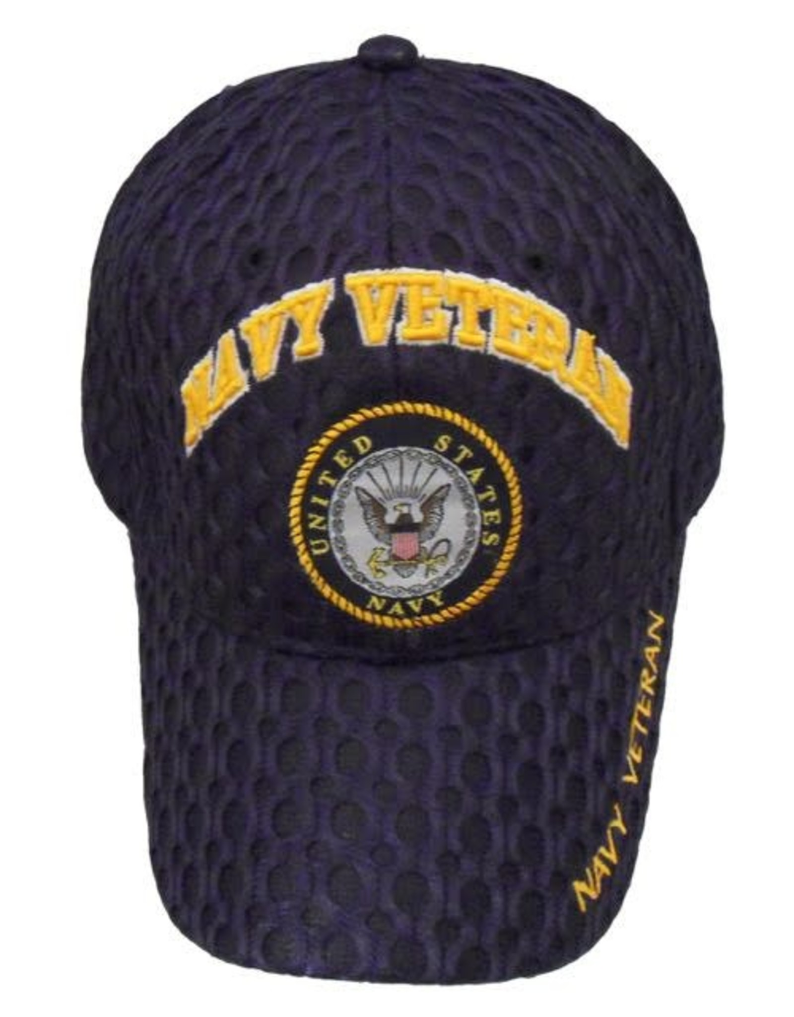 MidMil Navy Veteran Hat with Seal Honeycomb Mesh Dark Blue