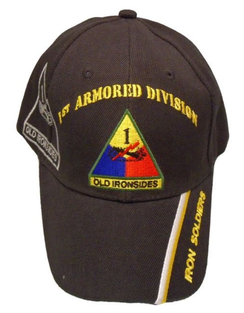 MidMil Army 1st Armored Division Hat with Emblem and  Shadow Black