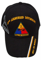 """MidMil Army 2nd Armored Division Hat with Shadow and Motto """"Hell on Wheels"""" on Bill Black"""