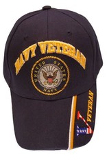 MidMil Navy Veteran Hat with Seal Dark Blue