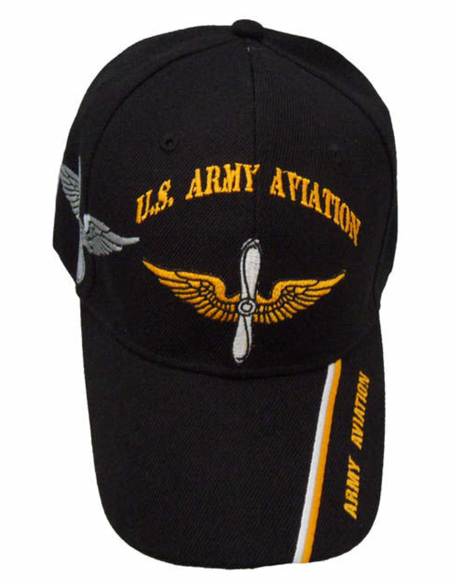 MidMil U.S. Army Aviation Hat with Emblem and Shadow Black