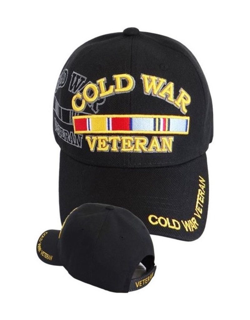 MidMil Cold War Veteran Hat with Ribbons and Shadow Black