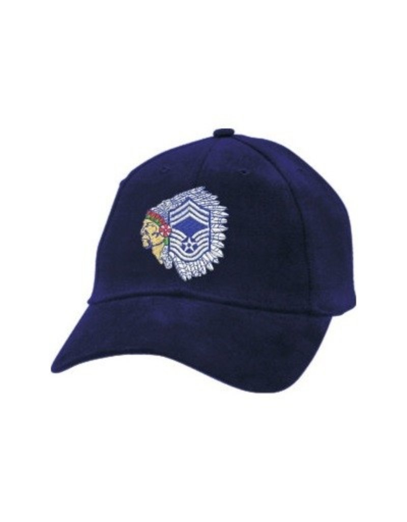 """MidMil Air Force Chief Master Sergeant Hat with """"Chief"""" Emblem Black"""