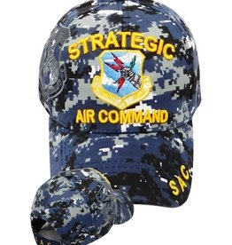 MidMil Air Force Strategic Air Command Hat with Emblem and Shadow Blue Digicam
