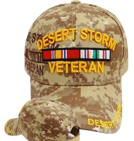 MidMil Desert Storm Veteran Hat with Ribbon and Shadow Dessert Digicam