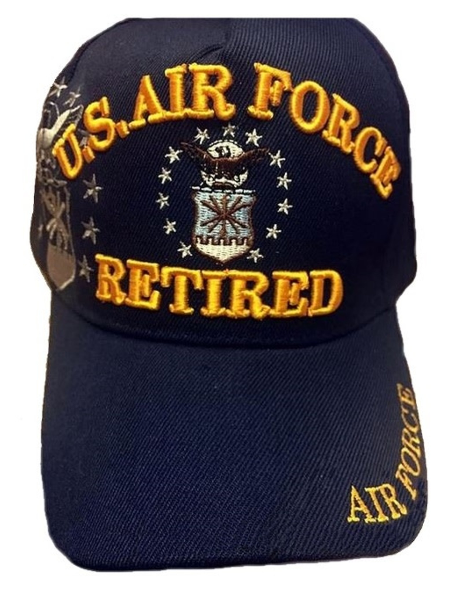 MidMil U.S. Air Force Retired Hat with Seal and Shadow Dark Blue