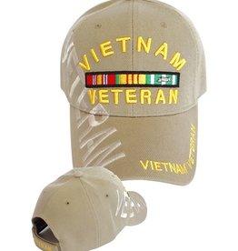 MidMil Vietnam Veteran Hat with Ribbons and Shadow Khaki V-Adj