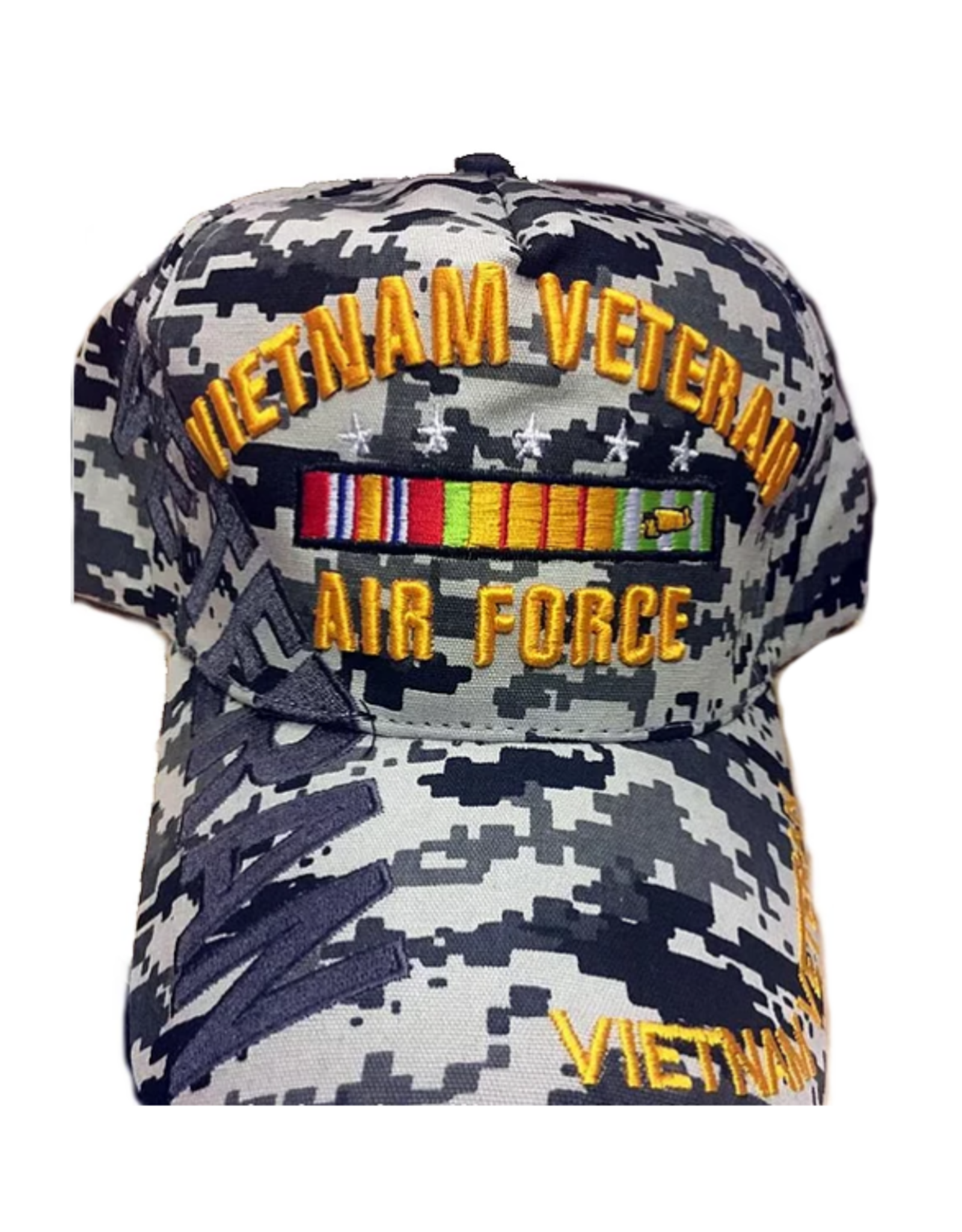 MidMil Air Force Vietnam Veteran Hat with Ribbons and Shadow ACU Digicam