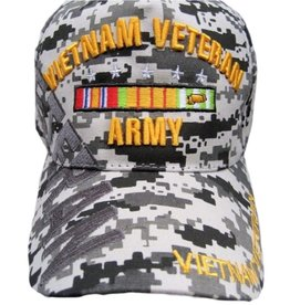MidMil Army Vietnam Veteran Hat with Ribbons and Shadow ACU Digicam
