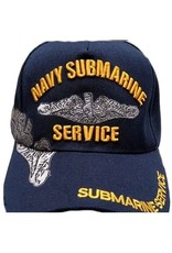 MidMil Navy Submarine Service Hat with Dolphin Emblem and Over Shadow Dark Blue