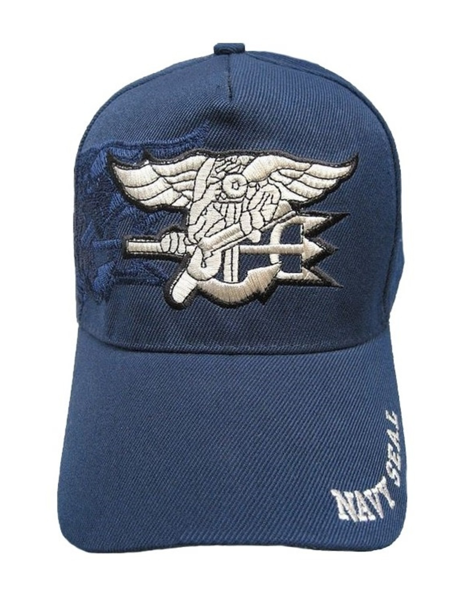 MidMil Navy Seals Hat with Trident Emblem and Shadow Royal Blue