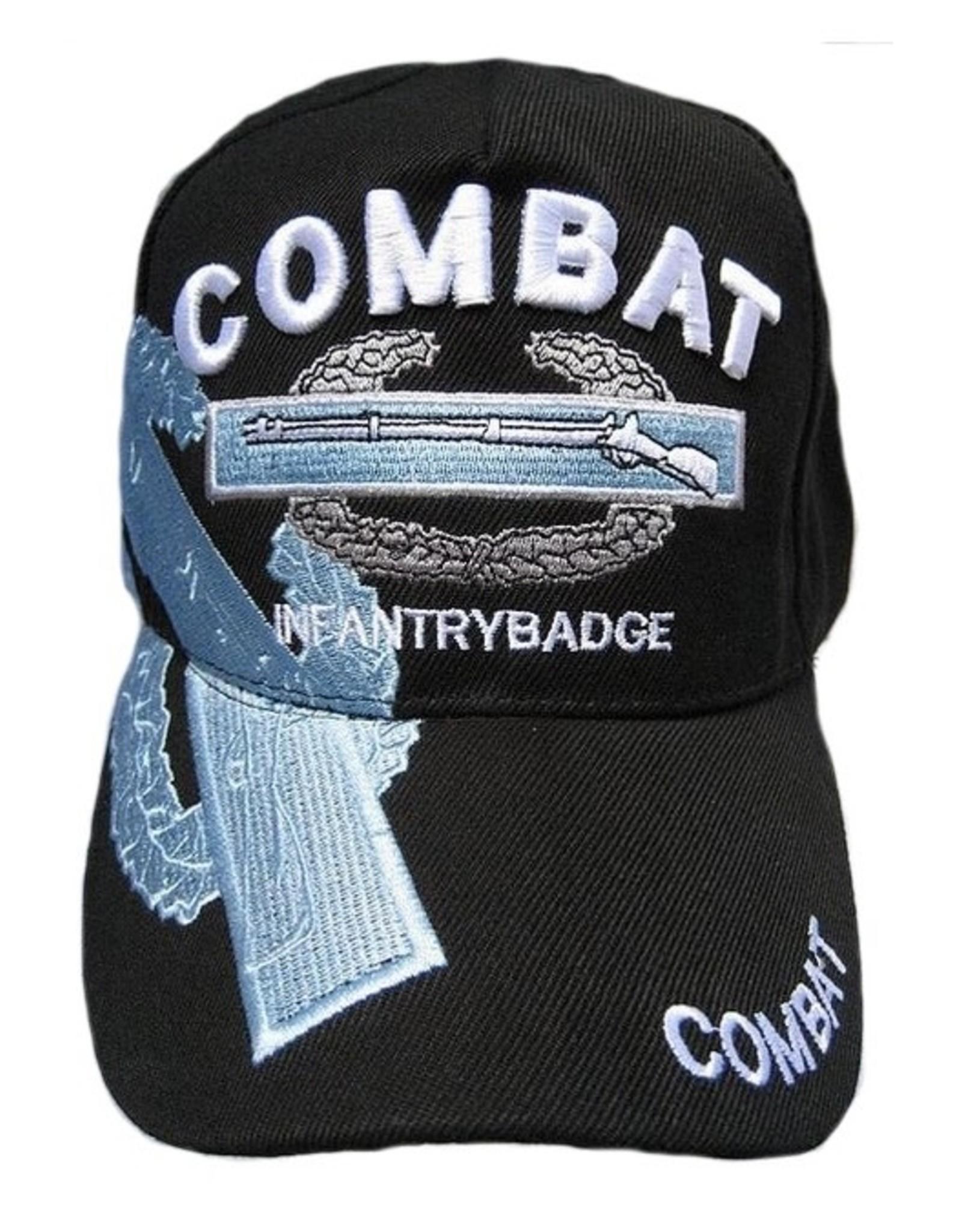 MidMil Army Combat Infantryman Badge CIB Hat with Over Shadow Black
