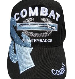 Army Combat Infantryman Badge Hat with Over Shadow Black