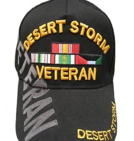 MidMil Desert Storm Veteran Hat with ribbons including Kuwait Black