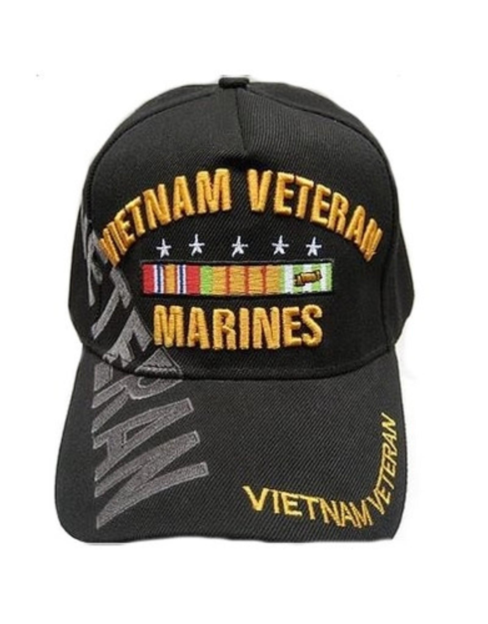 MidMil Vietnam Veteran Marines Hat with Over Shadow Black