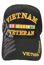 MidMil Vietnam Veteran Hat with Ribbons and Over Shadow Black
