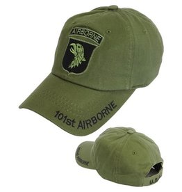 MidMil Army 101st Airborne Division Hat with Subdued Emblem Olive Drab