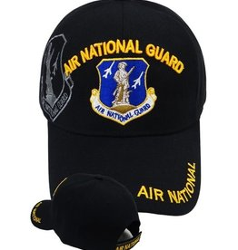 MidMil Air National Guard Hat with Emblem Shadow Black