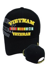 MidMil Vietnam Veteran Hat with Ribbons and Shadow Black