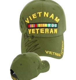 MidMil Vietnam Veteran Hat with Ribbons and Shadow Olive Drab