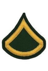 """MidMil Embroidered Army PFC (E-3) Patch 3"""" wide x 3"""" high"""