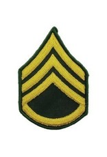 "MidMil Patch Army Rank Embroidered Army Staff Sergeant (E-6) Patch 3"" wide x 4.5"" highE-6 Staff Sgt"