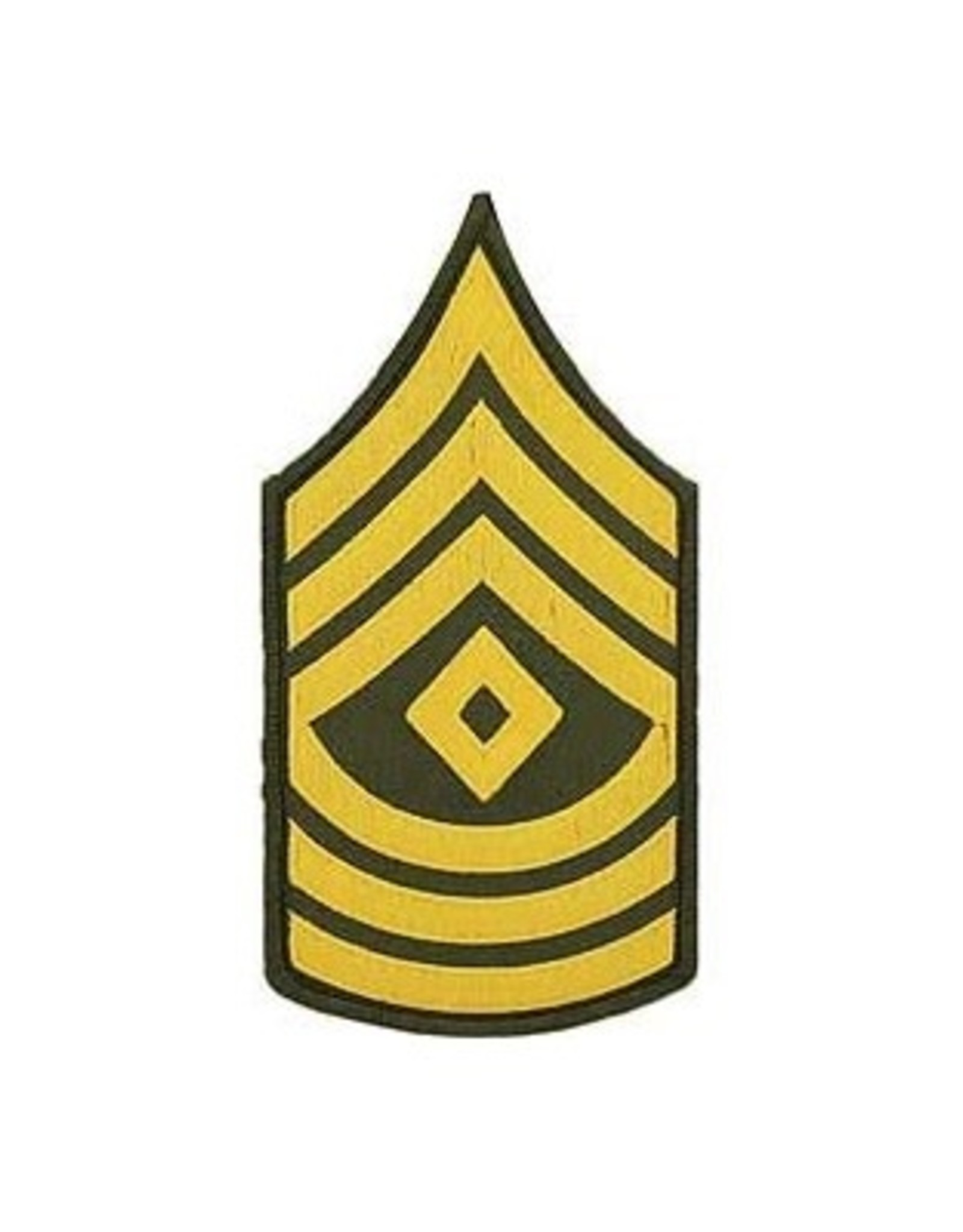 """MidMil Embroidered Army 1st Sergeant (E-8) Rank Patch 3"""" wide x 5.6"""" high"""