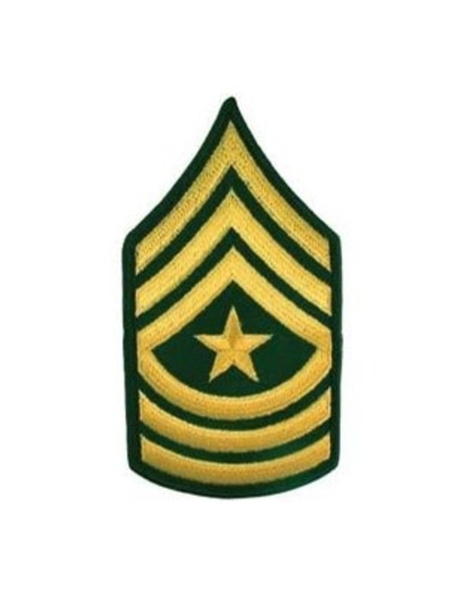 """MidMil Embroidered Army Sergeant Major (E-9) Rank Patch 3"""" wide x 5.6"""" high"""