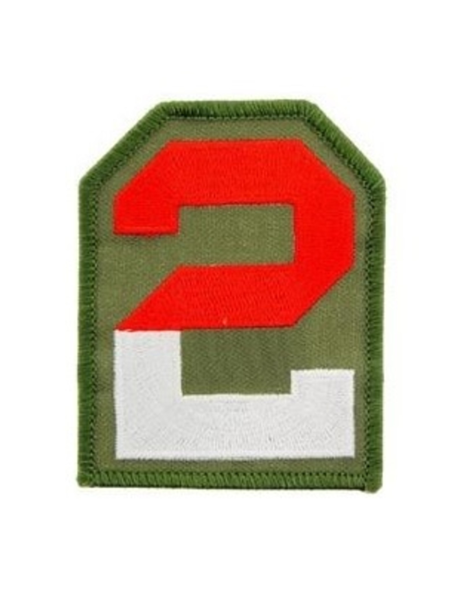 "MidMil Embroidered 2nd Army Patch 2.5"" wide x 3.2"" high"