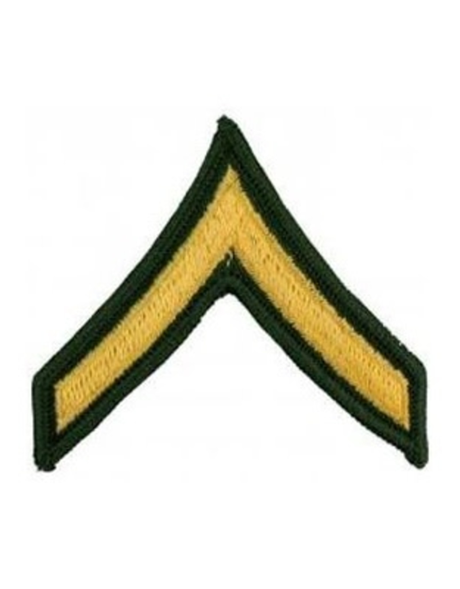 "MidMil Embroidered Army Private (E-2) Rank Patch 3"" wide x 2.8"" high"