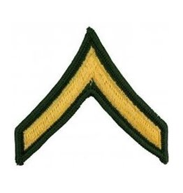 """MidMil Embroidered Army Private (E-2) Rank Patch 3"""" wide x 2.8"""" high"""