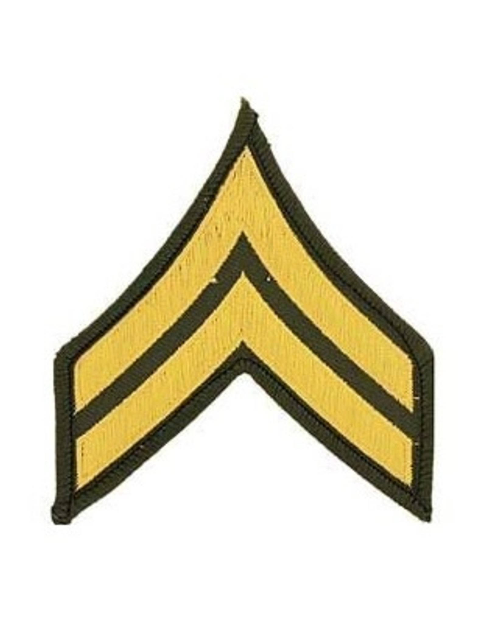 """MidMil Embroidered Army Corporal (E-4) Rank Patch 3"""" wide x 3.2"""" high"""