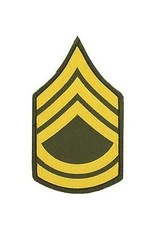 "MidMil Embroidered Army Sergeant 1st Class (E-7) Rank Patch 3"" wide x 5"" high"