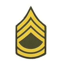 """MidMil Embroidered Army Sergeant 1st Class (E-7) Rank Patch 3"""" wide x 5"""" high"""