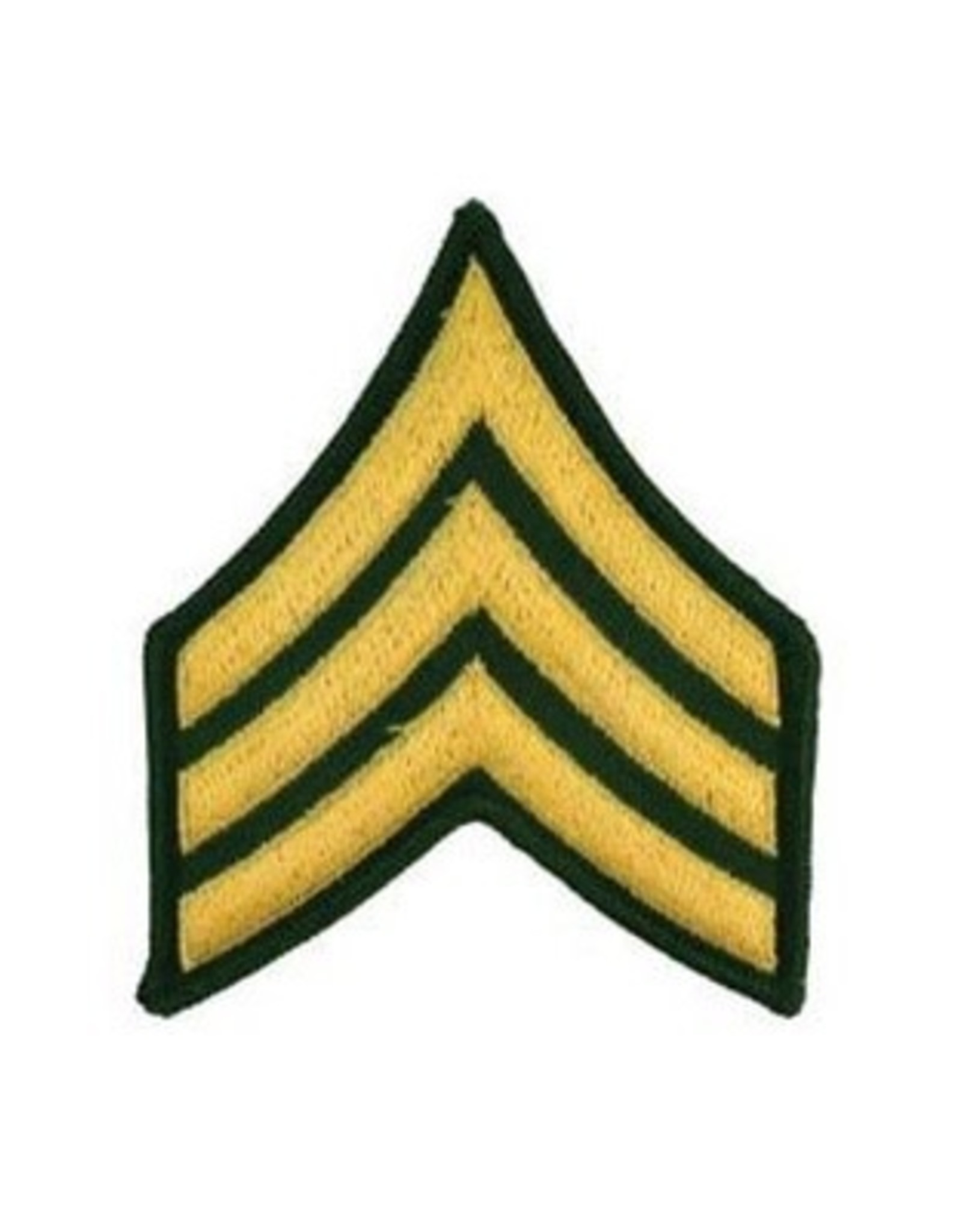 """MidMil Embroidered Army Sergeant (E-5) Rank Patch 3"""" wide x 3.9"""" high"""
