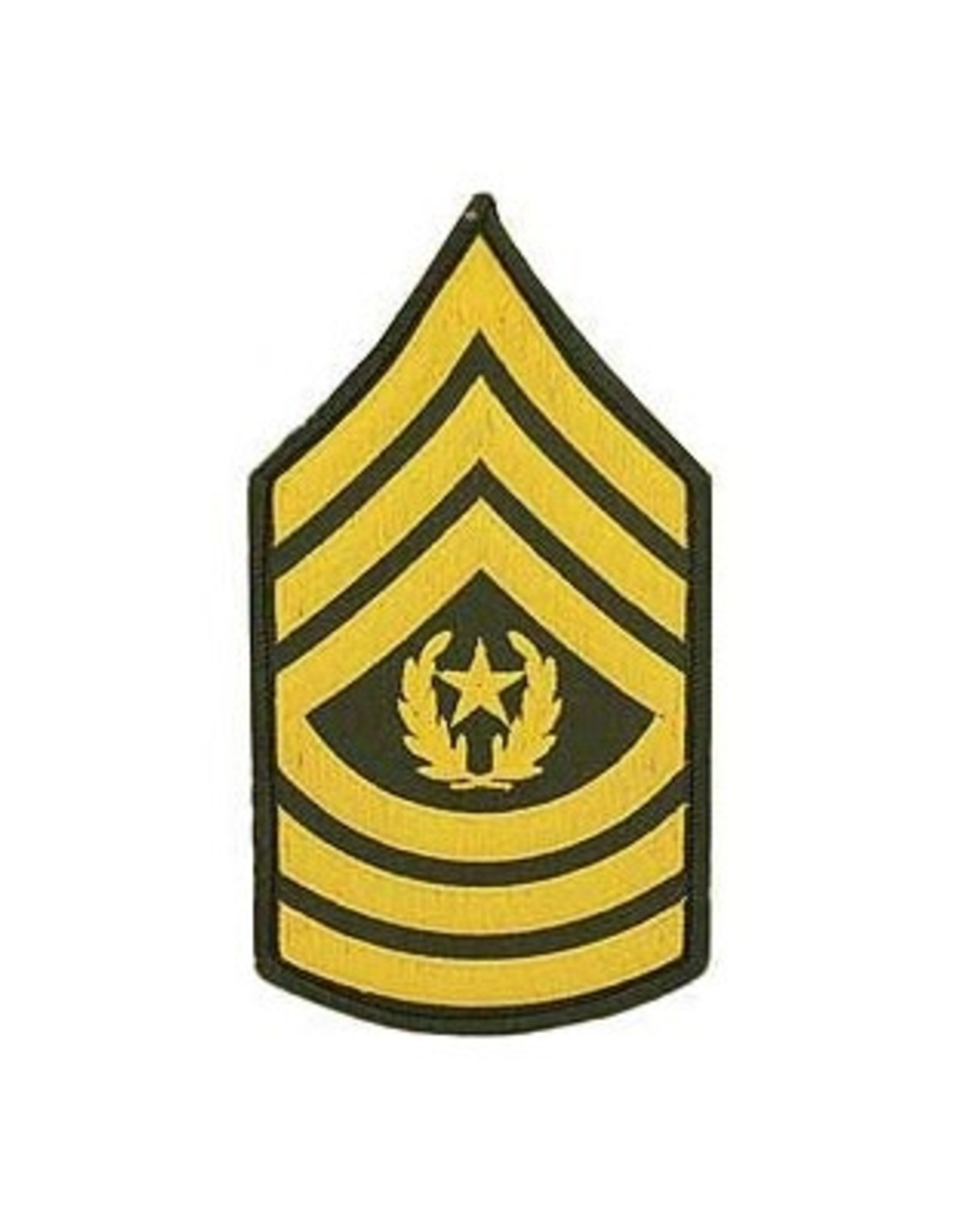 "MidMil Embroidered Army Command Sergeant Major CSM (E-9) Rank Patch 3"" wide x 5.5 "" high"