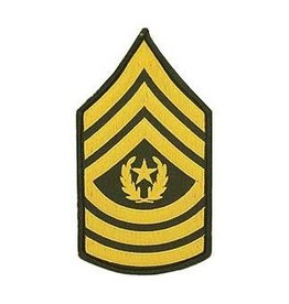 """MidMil Embroidered Army Command Sergeant Major CSM (E-9) Rank Patch 3"""" wide x 5.5 """" high"""