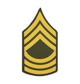 """MidMil Embroidered Army Master Sergeant MSG (E-9) Rank Patch 3"""" wide x 5.5"""" high"""