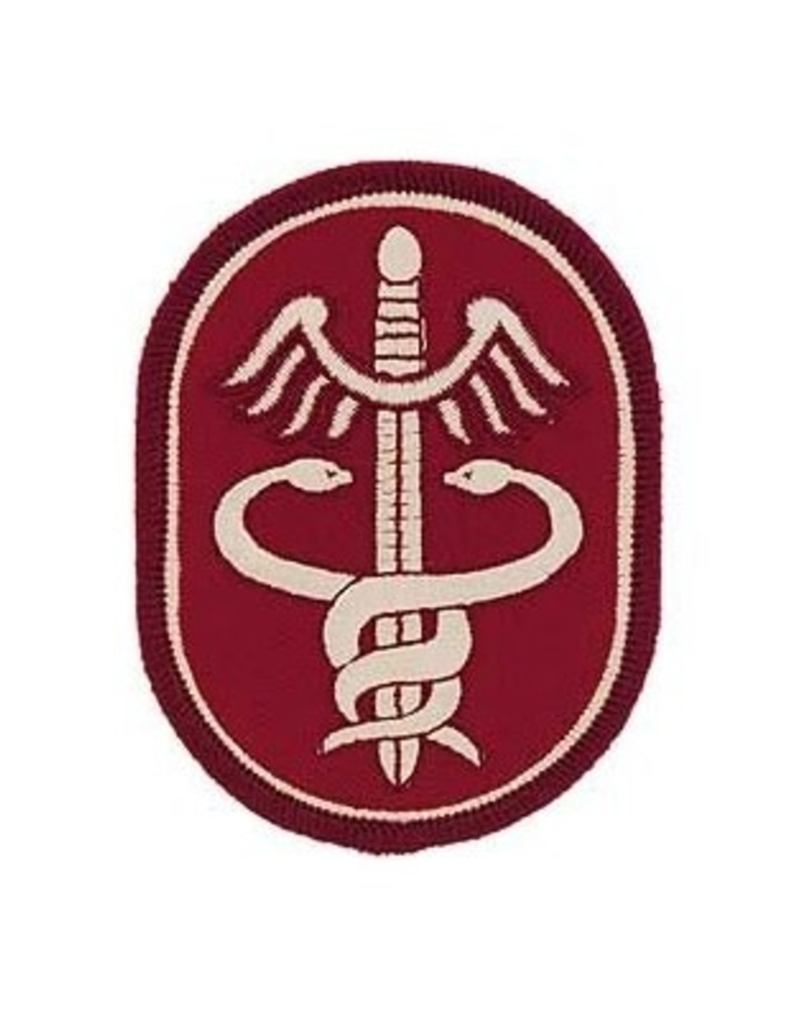 """MidMil Embroidered Army Medical Command Patch 2.5"""" wide x 3.2"""" high"""