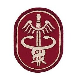 "MidMil Embroidered Army Medical Command Patch 2.5"" wide x 3.2"" high"